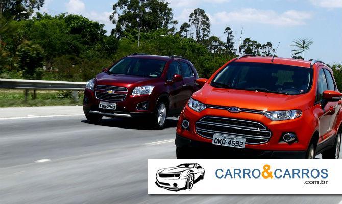 Comparativo entre Ecosport e Tracker