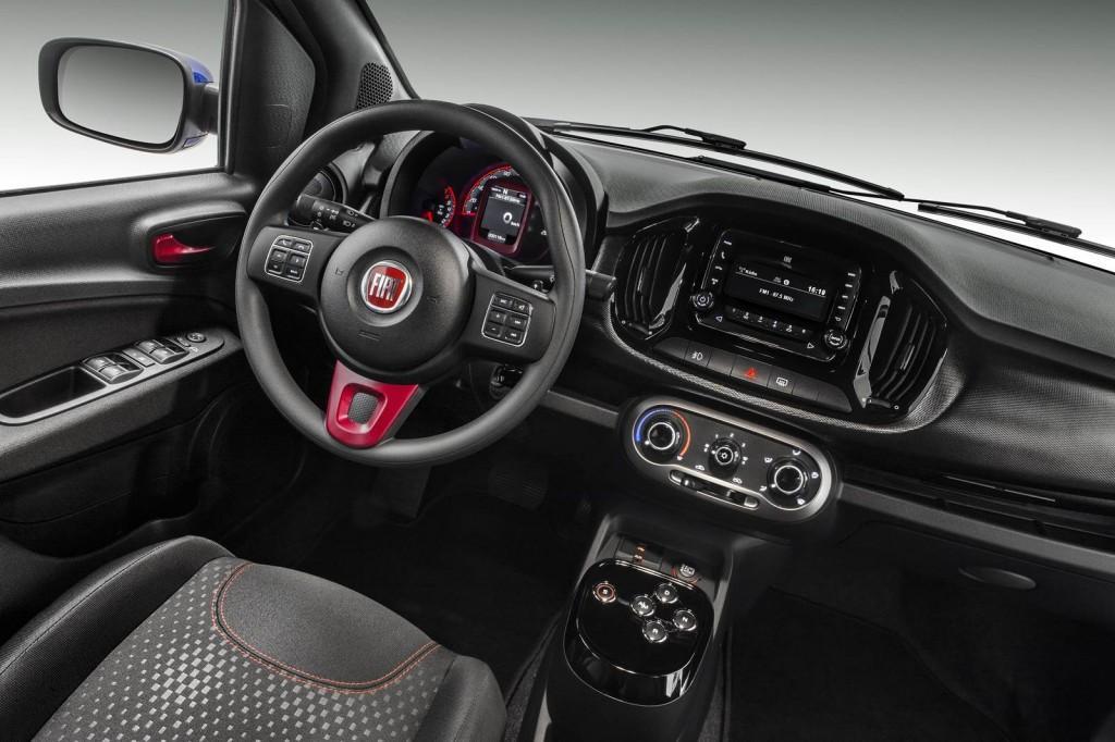 Novo Fiat Uno Sporting 2015 -  Interior