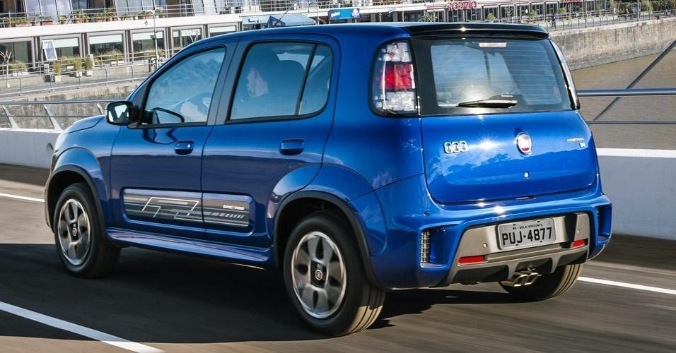 Novo Fiat Uno Sporting 2015 -  Ficha Técnica e Desempenho