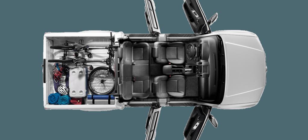 Nova Frontier 2016  Dimensões e caçamba