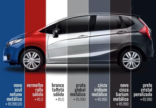 Novo Honda Fit 2016 - Cores e Versões