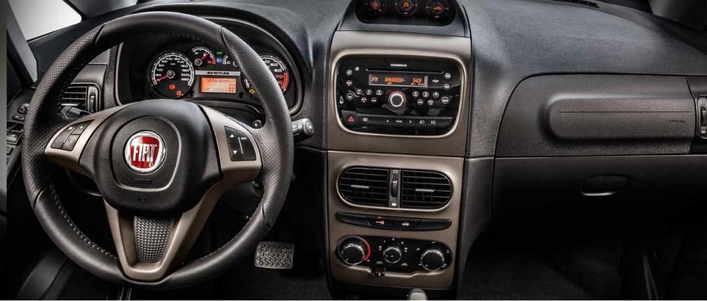 Novo Fiat Idea 2016 - Interior e Itens de série