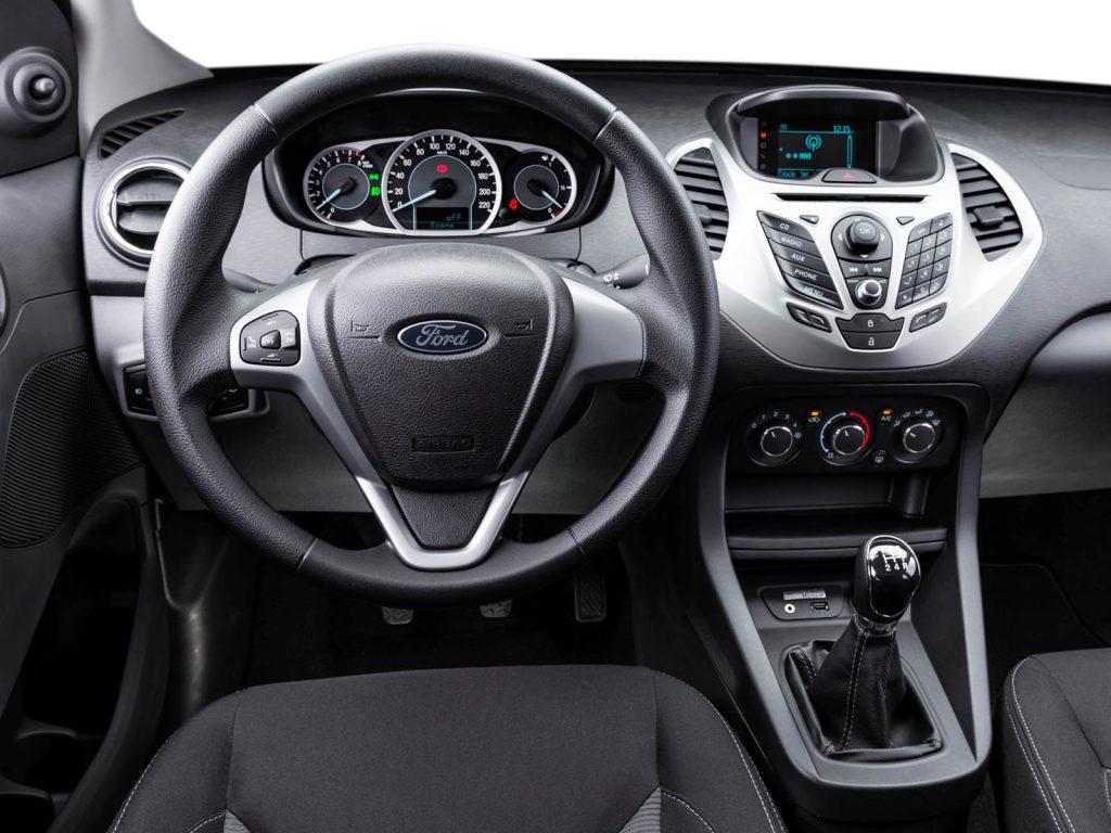 Novo Ford Ka 2017 ficha técnica/ interior