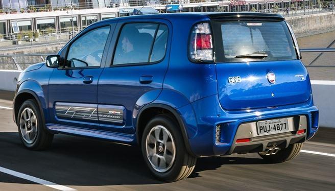 Fiat Uno 2017 Sporting - Traseira