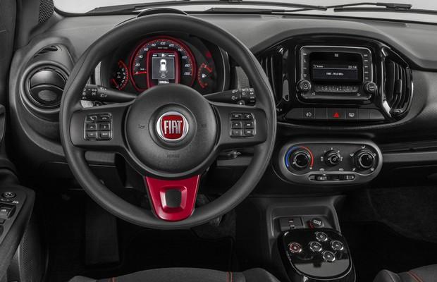 Fiat Uno 2017 Sporting - por dentro