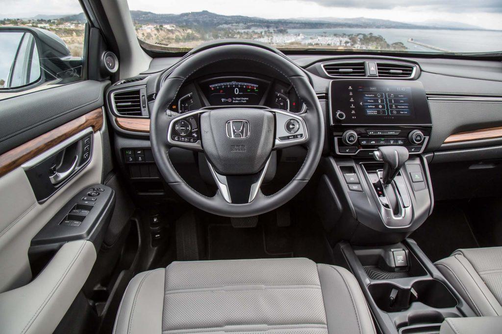 Nova Honda CRV 2018 - por dentro