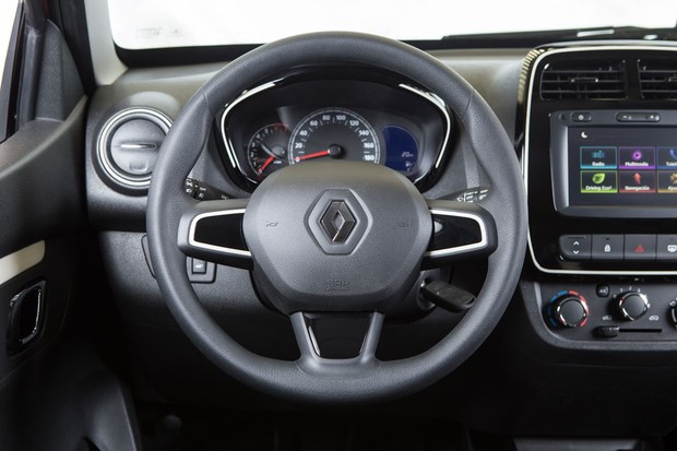 Renault Kwid 2019 - painel e por dentro