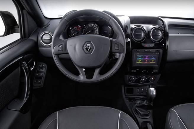 Nova Renault Oroch 2019 - painel e itens de série