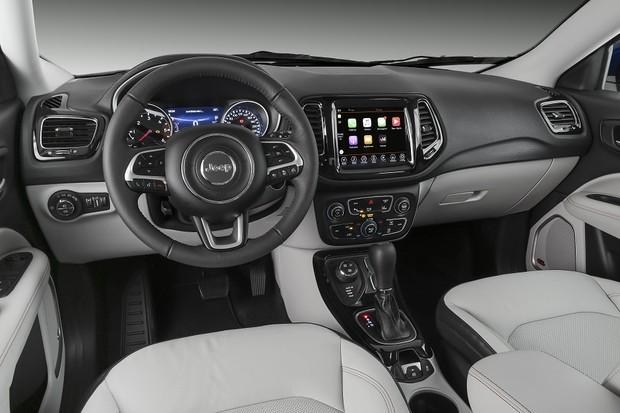 Jeep Compass 2019 – painel, por dentro