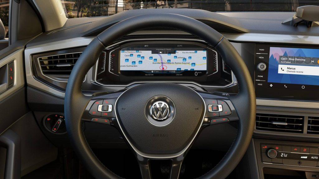 Volkswagen Virtus 2019 - painel, interior, por dentro