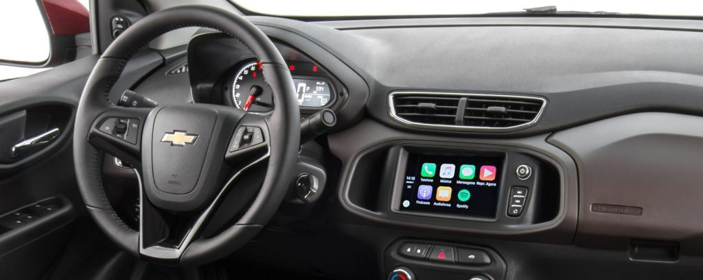 Chevrolet Prisma 2020 - interior, por dentro