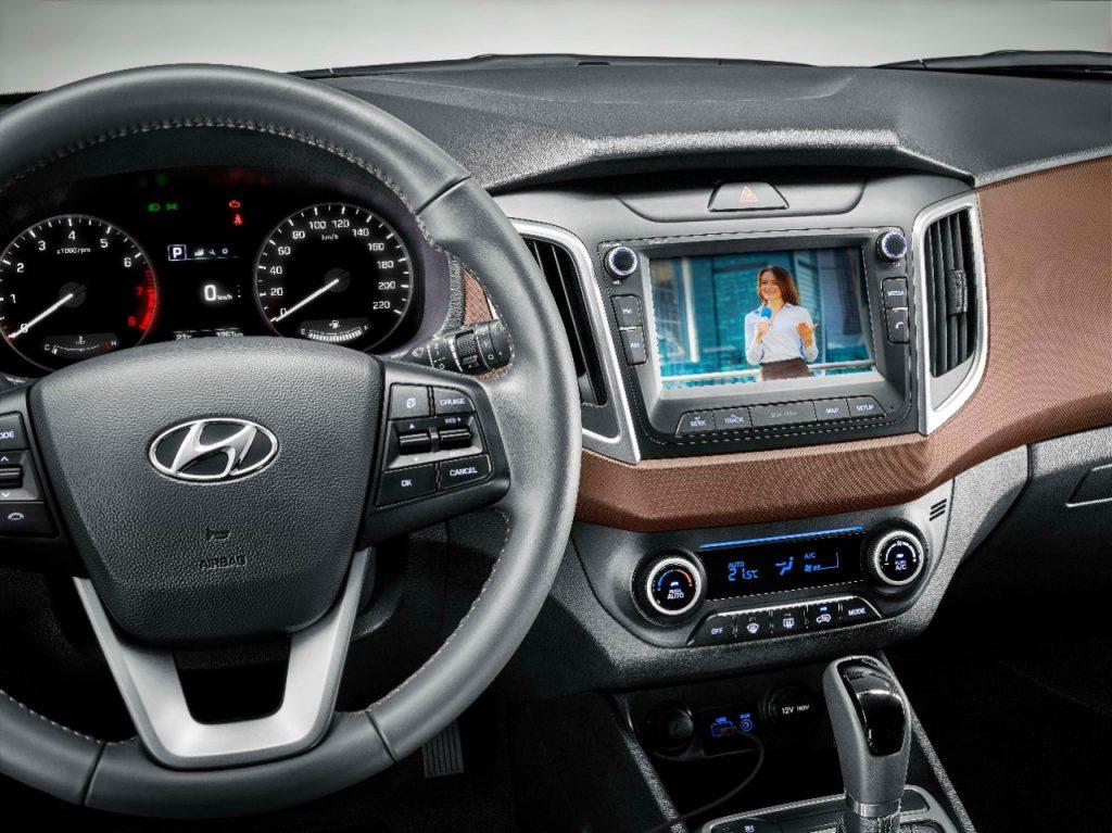 Novo Hyundai Creta 2020 - interior, por dentro