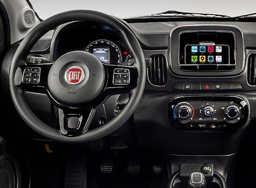 Novo Fiat Mobi 2020 - Volante, painel